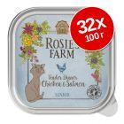 Икономична опаковка Rosie's Farm Senior 32 x 100 г