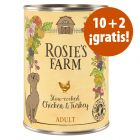 Rosie's Farm 12 x 400 g latas en oferta: 10 + 2 ¡gratis!