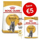 Royal Canin Breed Dry Cat Food + Wet Cat Food Bundle - €5 Off!*