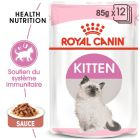Royal Canin Kitten en sauce pour chaton