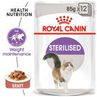 Royal Canin Sterilised szószban nedvestáp