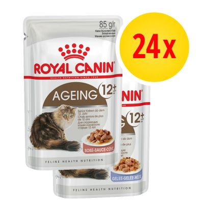 Royal Canin Ageing 12+ Jelly & Gravy Mixed Pack 24 x 85g
