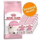 Royal Canin 400 g Kitten Hrană Uscată + 12 x 85 g Kitten Instinctive