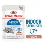 Royal Canin Indoor Sterilised 7+ în sos Hrană umedă