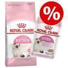 Royal Canin Kitten 4 кг/10 кг + влажный корм 12 x 85 г/195 г по специальной цене!