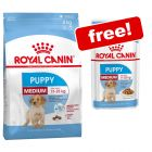 Royal Canin Puppy Dry Food + Wet Food Free!*