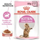 Royal Canin Sterilised Kitten en sauce pour chaton