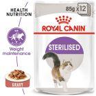 Royal Canin Sterilised szószban nedvestáp