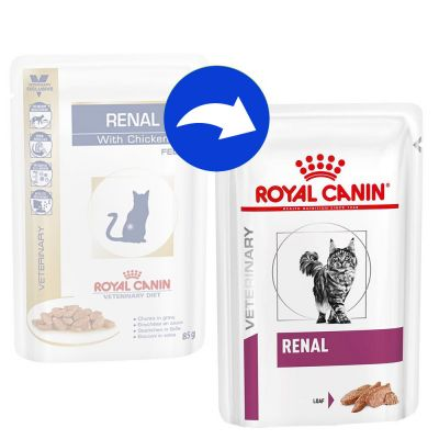 Royal Canin Veterinary Diet Feline Renal Pouches with Beef
