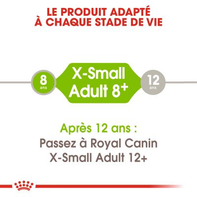 Royal Canin X-Small Adult 8+ pour chien
