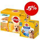 Sachet Multipack Pedigree 96x100g + 28 friandises Dentastix : 5% de remise !