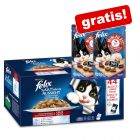 Sachets Felix Tendres Effilés Mégapack 44 x 100 g + 2 x 40 g Mini Filetti offerts !