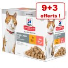 Sachets Hill's Science Plan pour chat 9 x 85 g + 3 x 85 g offerts !