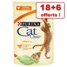 Sachets Cat Chow pour chat 18 x 85 g + 6 sachets offerts !