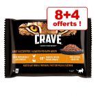 Sachets Crave Adult pour chat 8 x 85 g + 4 x 85 g offerts !