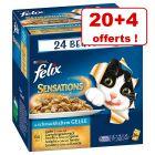 Sachets Felix 20 x 100 g + 4 sachets offerts !