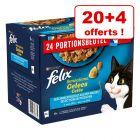 Sachets fraîcheur Felix Sensations pour chat 20 x 85 g + 4 offerts !