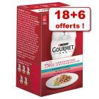 Sachets Gourmet Mon Petit pour chat 18 x 50 g + 6 sachets offerts !