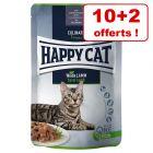 Sachets Happy Cat Meat en sauce pour chat 10 x 85 g + 2 x 85 offerts !