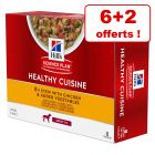 Sachets Hill's Science Plan Adult Healthy Cuisine 6 x 80 g + 2 sachets offerts !