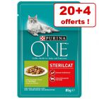 Sachets PURINA ONE 20 x 85 g pour chat + 4 sachets offerts !