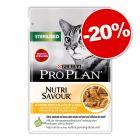Sachets PURINA PRO PLAN 10 / 12 x 85 g pour chat : 20 % de remise !