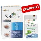 Sachets Schesir 24 x 85g + Croquettes Natural Selection 350 g offertes !