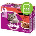 Sachets Whiskas 144 x 100 g à prix avantageux !