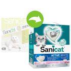 Sanicat Active White Flor de Lótus areia aglomerante para gatos