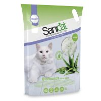 Sanicat Diamonds Aloe Vera arena de sílice para gatos