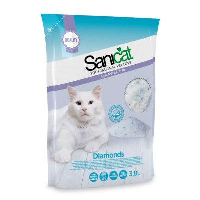 Sanicat Diamonds arena de sílice para gatos