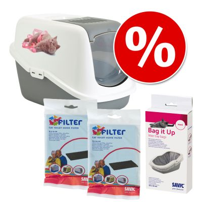Savic Nestor Impression Litter Box – Kitten Ribbon