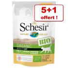 Schesir Bio pour chat 5 x 85 g + 1 sachet offert !