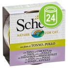 Schesir in Bouillon Voordeelpakket Kattenvoer 24 x 70 g
