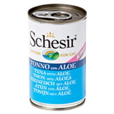 Alimento umido gattini Schesir in Gelatina Kitten Tonnetto con Aloe 140 g