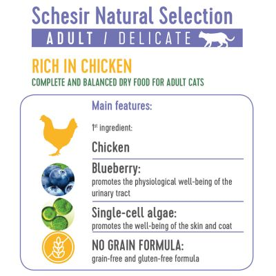 Schesir Natural Selection Adult poulet pour chat
