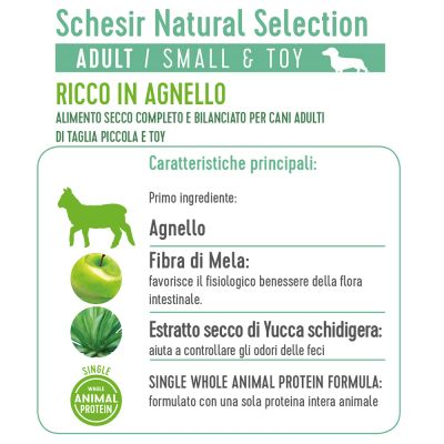 Schesir Natural Selection Adult Small Breed con Agnello