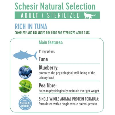Schesir Natural Selection Adult Sterilised with Tuna