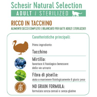 Schesir Natural Selection Adult Sterilized con Tacchino