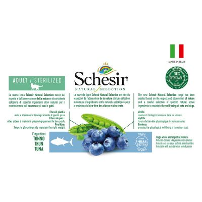 Schesir Natural Selection Adult Sterilized con Tonno