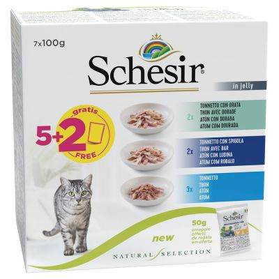 Schesir Natural Selection Probeerpakket 7 x 100 g Natvoer