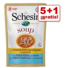Schesir Soup 6 x 85 g sopa para gatos en oferta: 5 + 1 ¡gratis!
