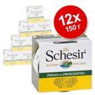 Экономупаковка Schesir влажный корм для собак 12 x 150 г