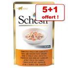 Schesir 5 x 85g pour chat + 1 sachet offert !