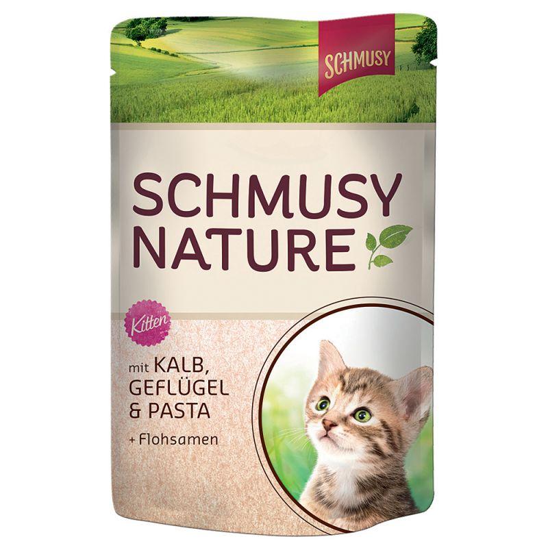Schmusy Nature Kitten i portionspåsar 12 x 100 g