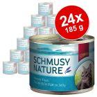 Schmusy Nature Ryba w puszkach, 24 x 185 g