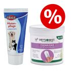 Set orecchie & zampe: Salviette Vet's Best® Clean + Crema Pro Care Trixie
