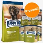 Set prova Happy Dog Nuova Zelanda secco + umido + snack