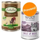 Set prova misto! 400 g Lukullus Adult + 400 g Wolf of Wilderness