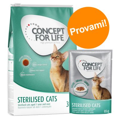 Set prova misto! 3 kg Concept for Life + 24 x 85 g